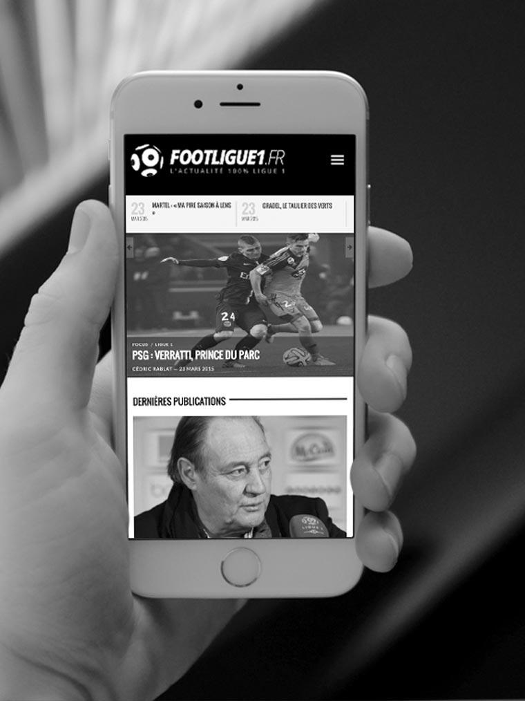 Footligue1.fr création de site internet Val d'Oise 95
