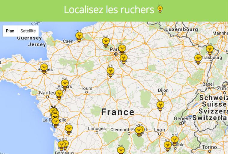 module-de-géolocalisation-refonte-de-site-internet- développement de site internet apiculteur