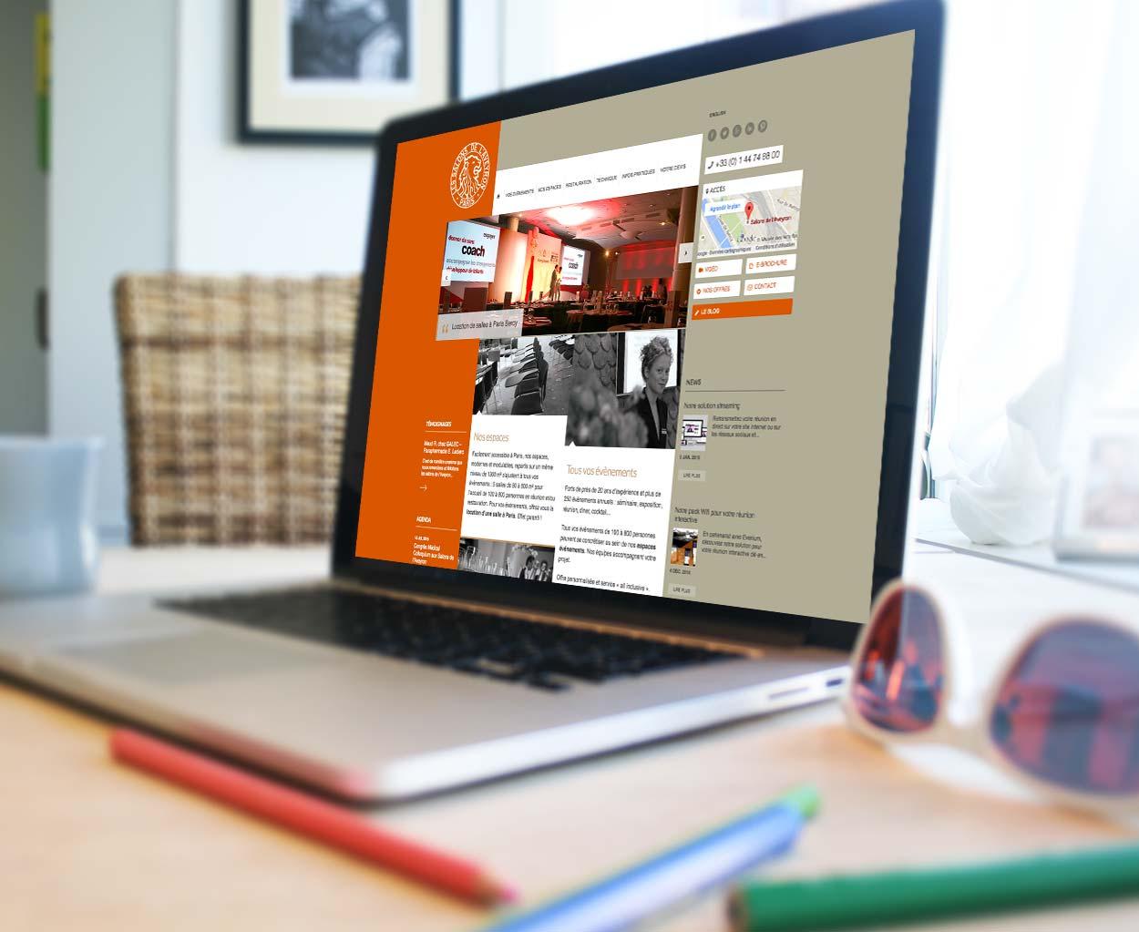 Refonte du site internet vitrine Salons de l'Aveyron