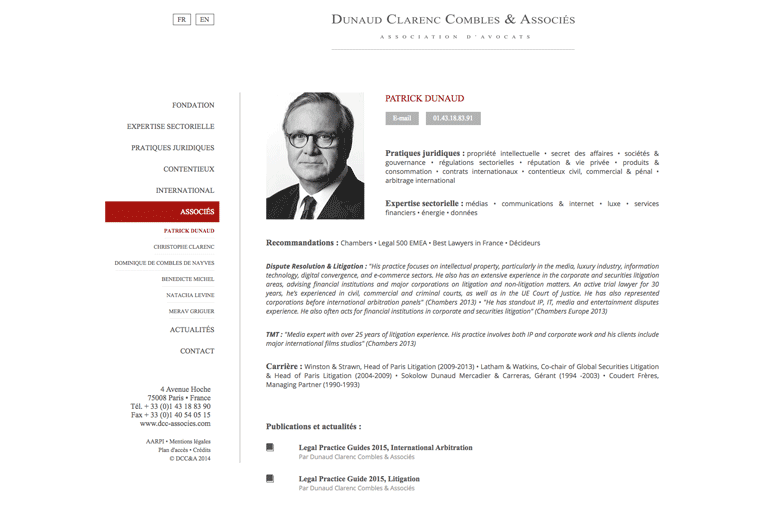 site internet avocat Paris 75