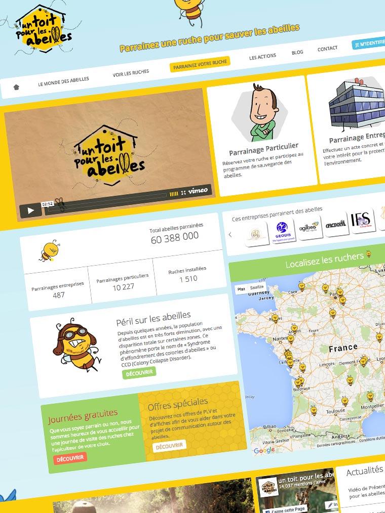Agence web Paris Un-toit-pour-les-abeilles-developpement-site-internet-sur-mesure-e-commerce